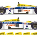 D20-002 1986 FW11 Grand Prix Winners