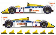 D20-003 1987 FW11B Grand Prix Winners